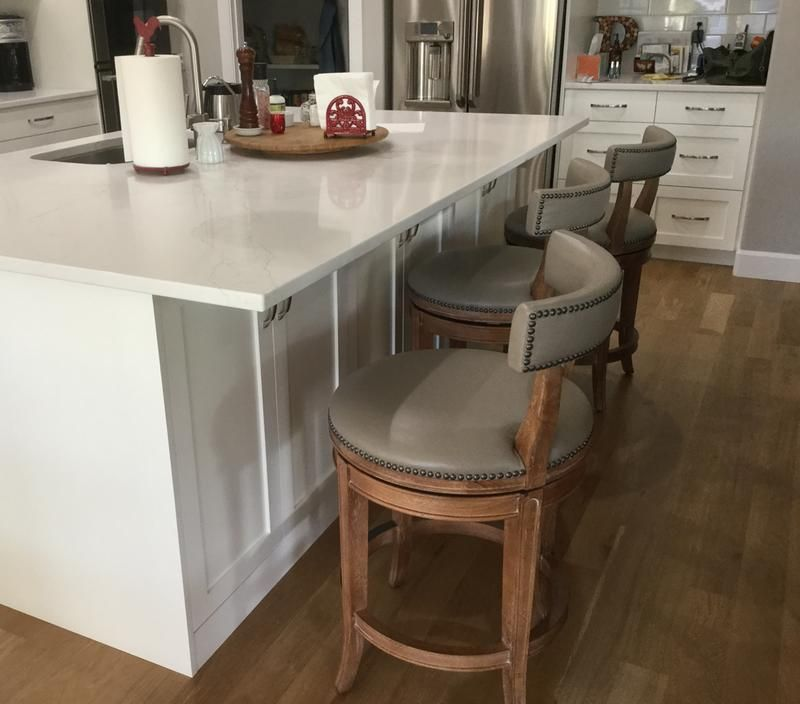 henning low back bar and counter stools  kitchen island