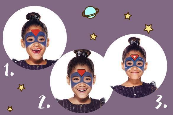 maquillage facile de super hros fille ides de ftes - Super Heros Fille