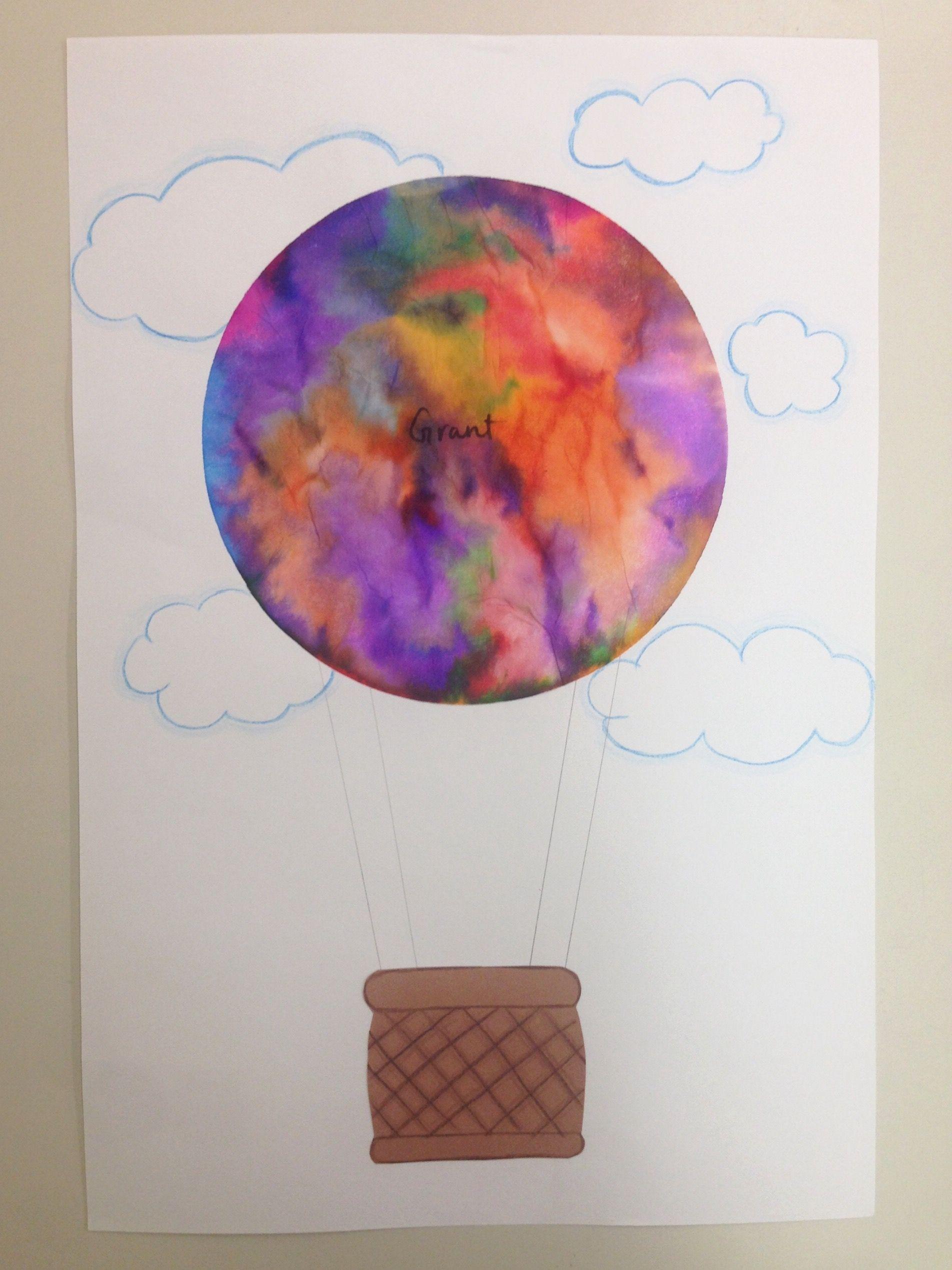 Hot Air Balloon tie dye using a coffee filter Hot air