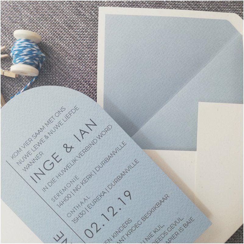 Photo of Einladungscafé – Hellblaue Hochzeitseinladungsinspiration – M …