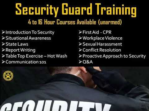 Protection Security Associates, Inc Corporate Training, Active - training report