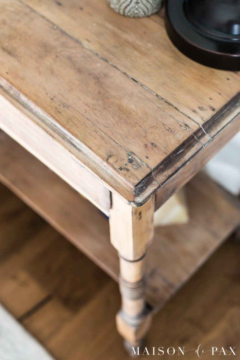 How To Get A Raw Wood Look Maison De Pax Raw Wood Furniture How To Antique Wood Natural Wood Furniture