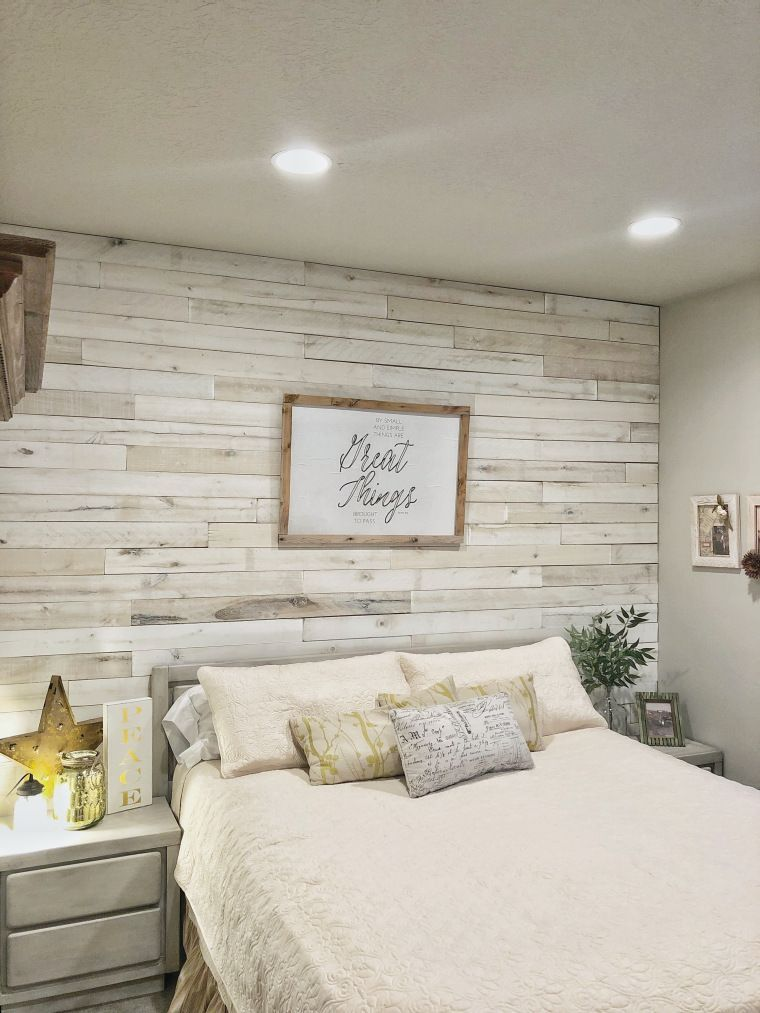 35 Awesome Accent Wall Ideas To Upgrade Your Space Feature Wall Bedroom Remodel Bedroom Wood Walls Bedroom