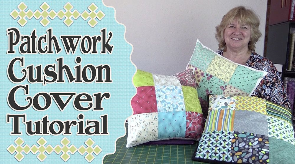 Charm Square Patchwork Cushion Cover Tutorial Cushion Tutorial Patchwork Cushion Sewing Cushions