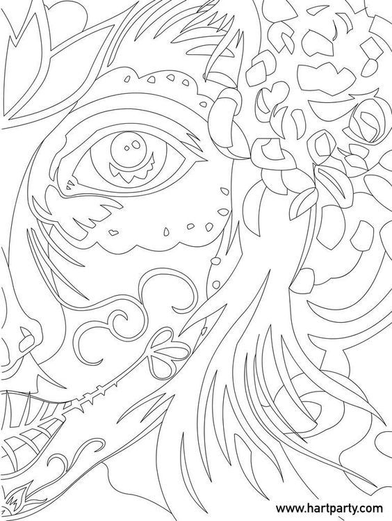 Sugar Skull Traceable for the online Art lesson The Art
