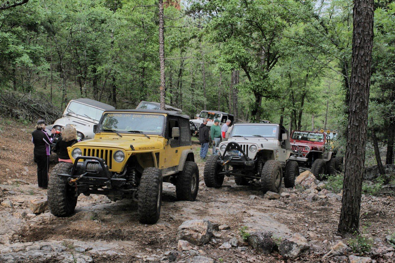 Jeeps On The Super Lift Off Road Park Trails With Genright Off