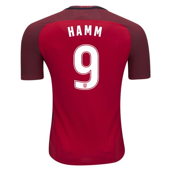 3a9d92f88 2017 2018 Mia Hamm Jersey Third Authentic Men s USA National Team ...