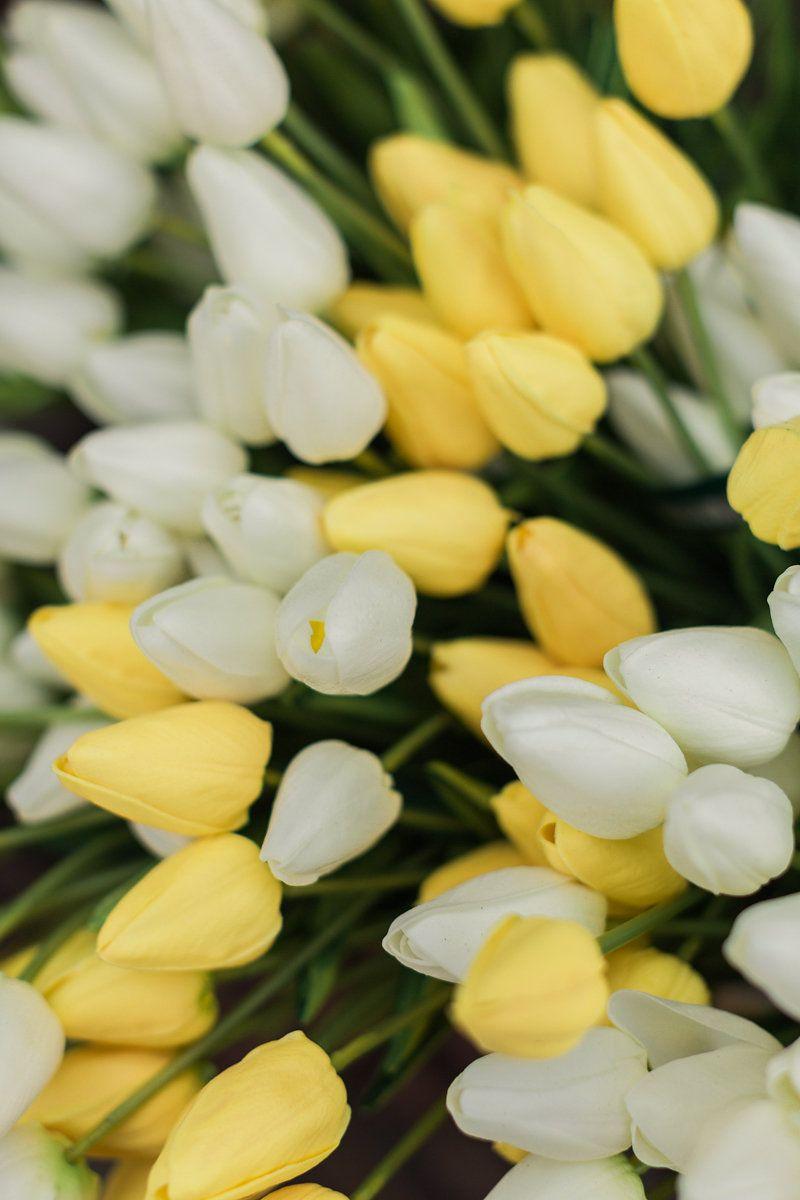 Real touch silk flower mini yellow tulips bouquet 15 tulip real touch silk flower mini yellow tulips bouquet 15 mightylinksfo