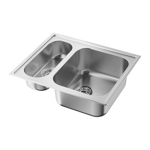 IKEA - BOHOLMEN, Inset sink 1 1/2 bowl, 25-year Limited Warranty ...