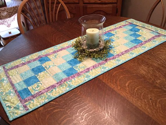 Table Runner Quilted Table Runner Patchwork Table Runner Pastel Table Runner Spring Table Runner Teal Table Runner Aqua Table Runner Patchwork Table Runner Quilted Table Toppers Quilted Table Runners