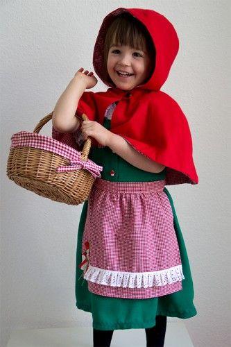 Rotkäppchen Kostüm für Kinder nähen | Rotkäppchen, Fasching und Kostüm