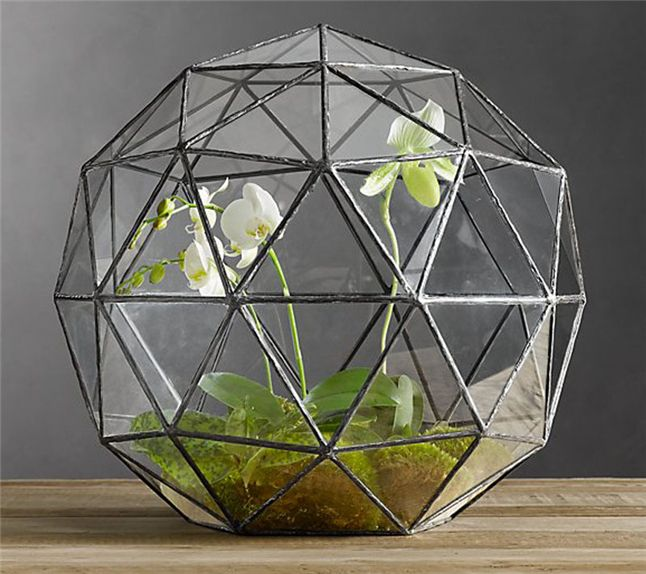 pas cher g om trique verre terrariums pour la maison. Black Bedroom Furniture Sets. Home Design Ideas