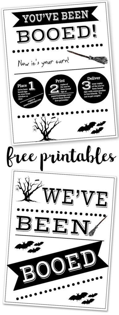 You\u0027ve Been Booed Free Printable Signs Halloween Ideas You\u0027ve