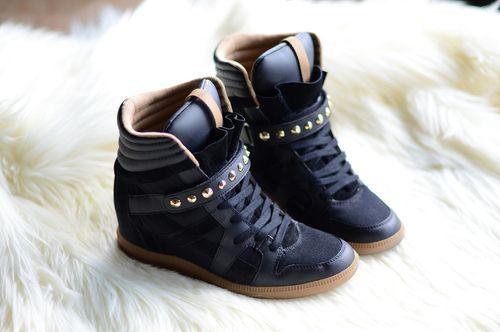 scarpe nike nere con zeppa