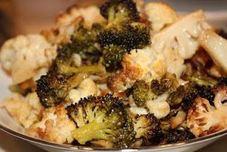 EVERYDAY SISTERS: Oven Roasted Broccoli and Cauliflower