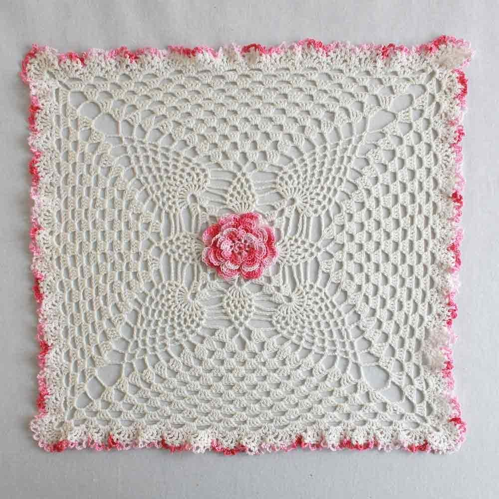 Pineapple rose granny square doily crochet pattern doilies pineapple rose granny square doily crochet pattern bankloansurffo Image collections