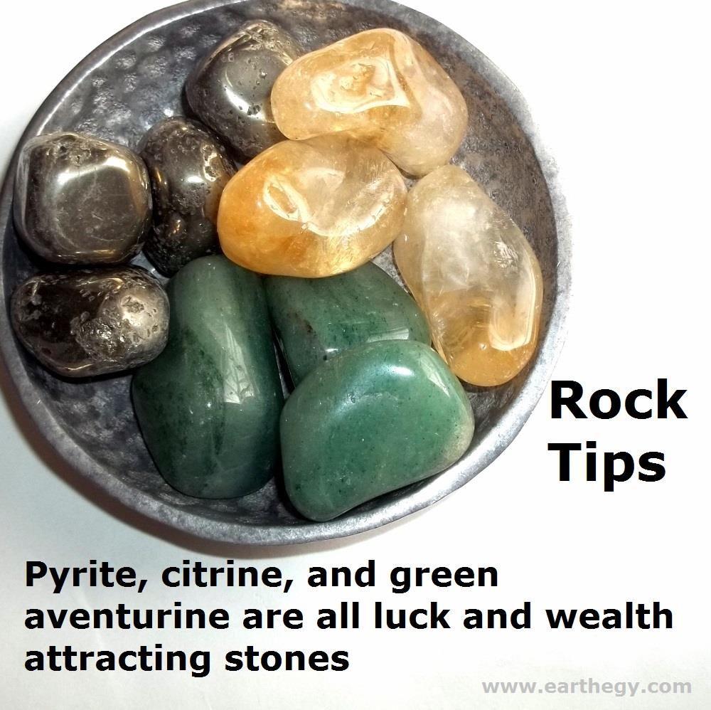 176 pyrite citrine green aventurine all attract luck
