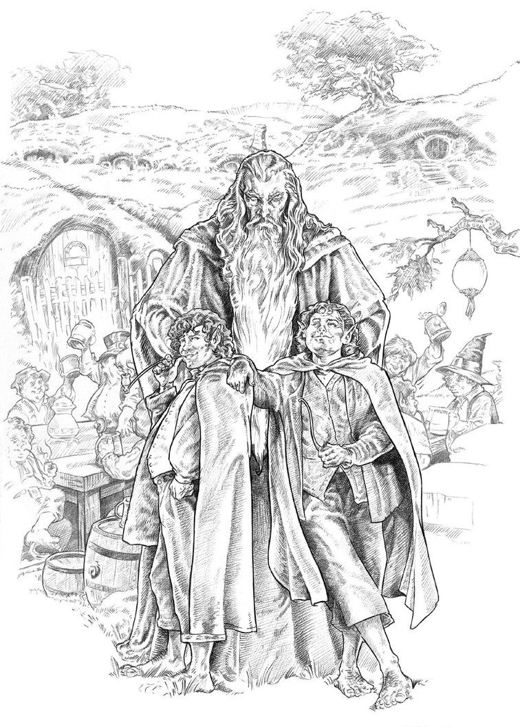 Pippin Y Merry Lotr Art Coloring Books Art
