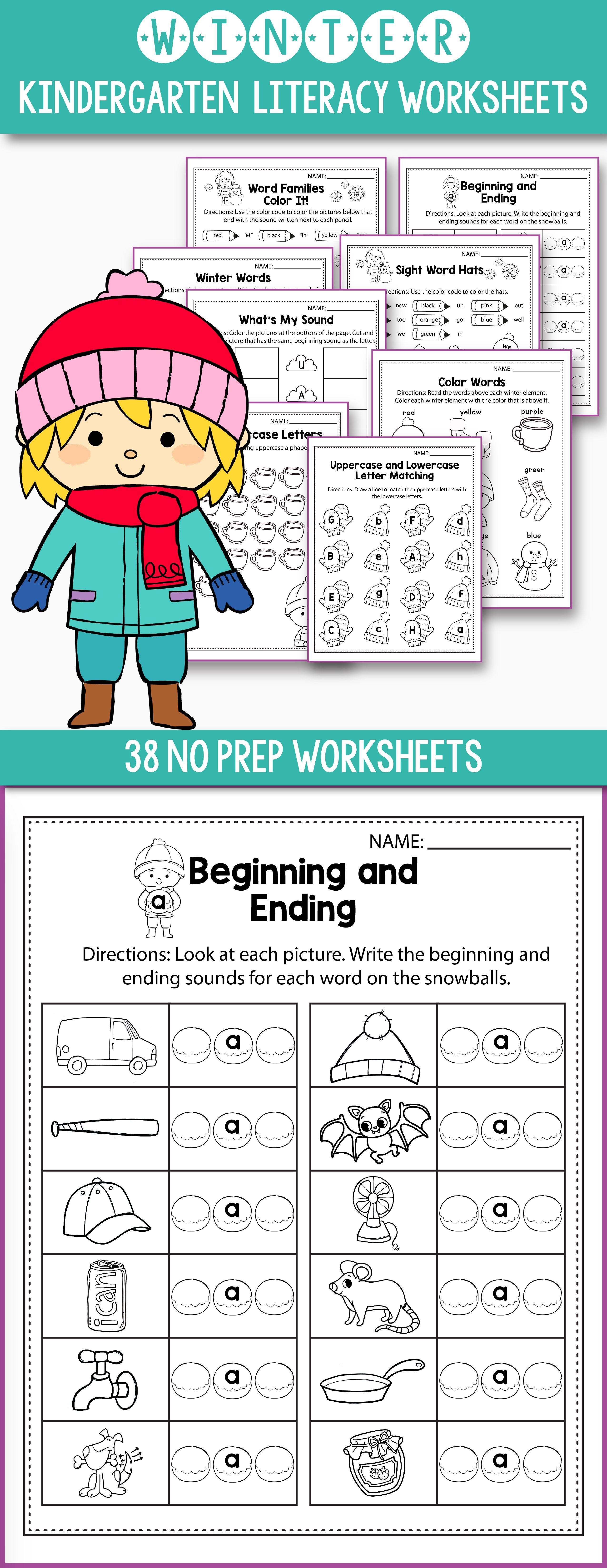 Winter Activities For Kindergarten (Literacy No Prep) | Lernen macht ...