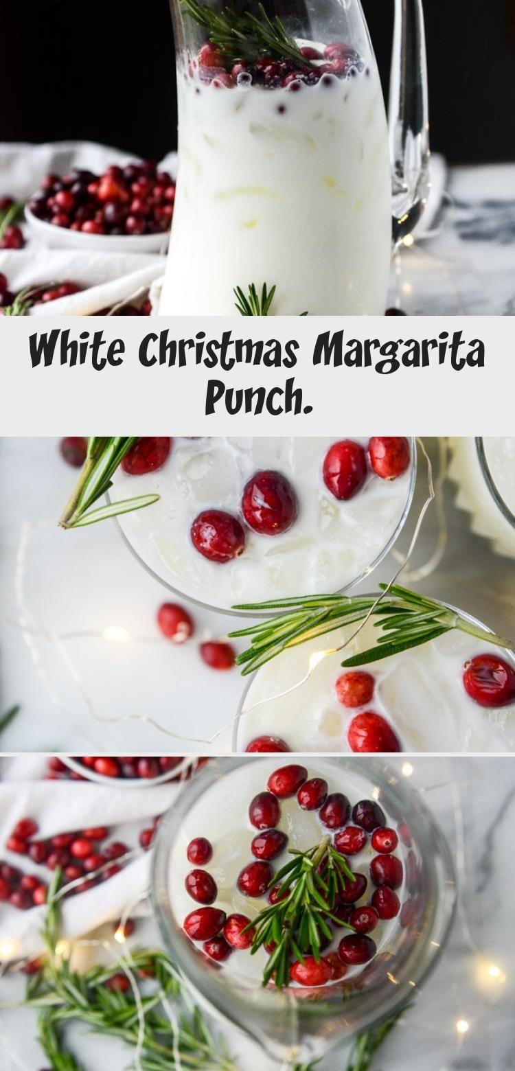 White Christmas Margarita Punch. #christmasmargarita