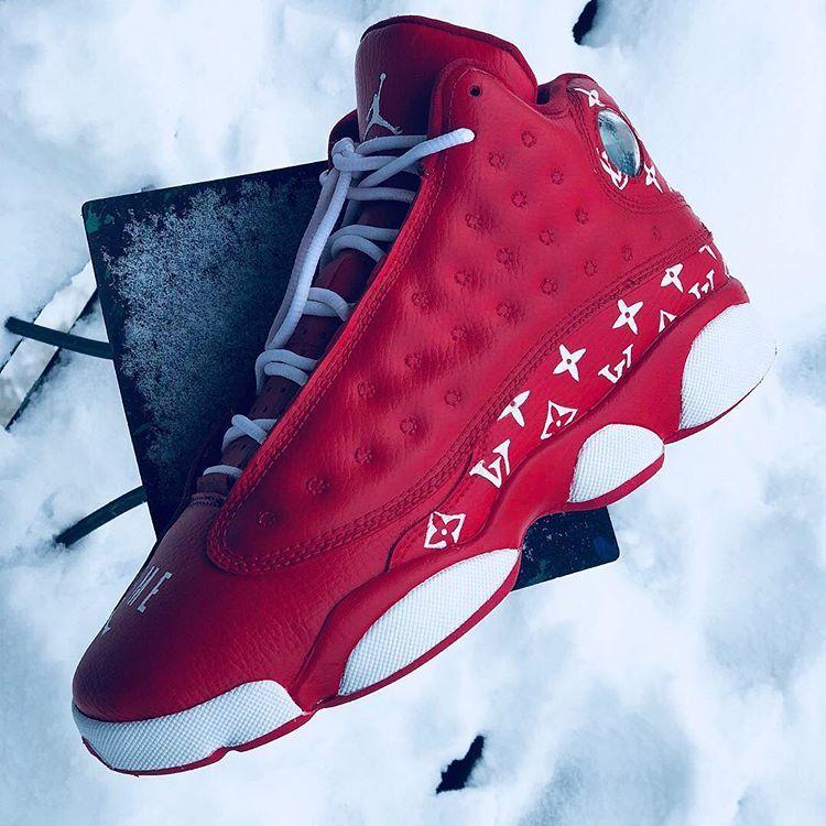 "Shoe Art Promoter on Instagram: ""LV Jordan 13s ( Comment what you ..."