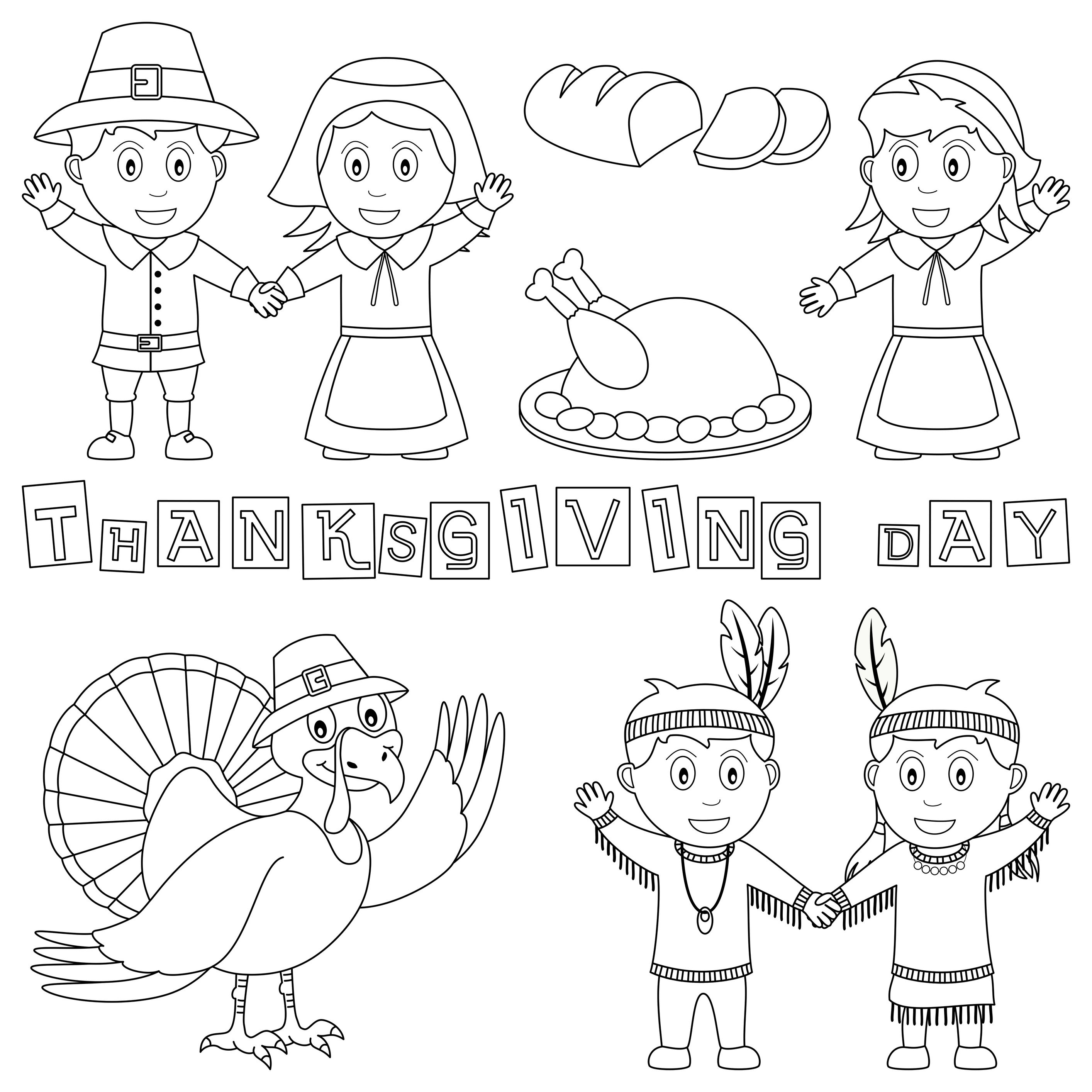 Thanksgiving Day Coloring Page Thanksgiving Coloring Pages