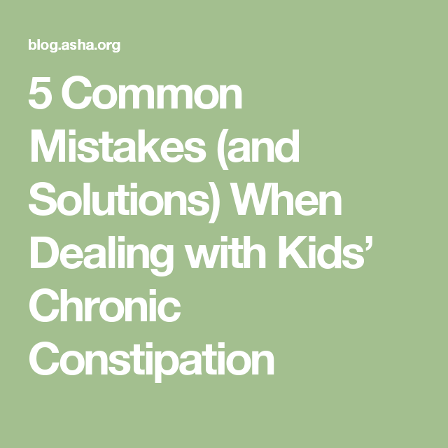 5 Common Mistakes And Solutions When Dealing With Kids Chronic