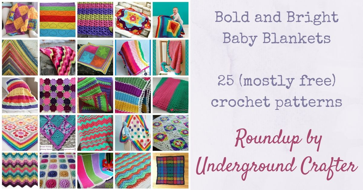 25 Bold and Bright Crochet Baby Blankets | Telar