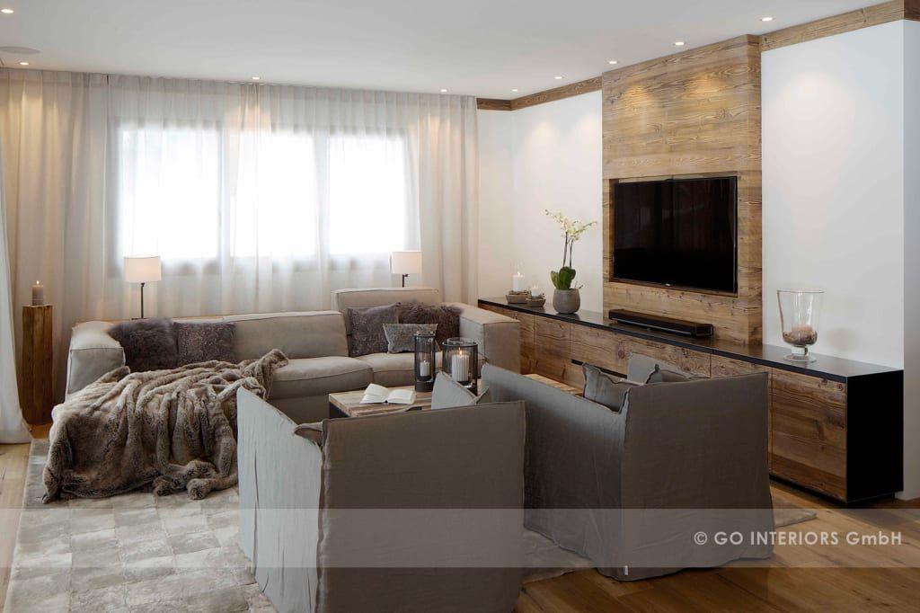 Rustikale Wohnzimmer Bilder Chalet Valbella - wohnzimmer offene decke