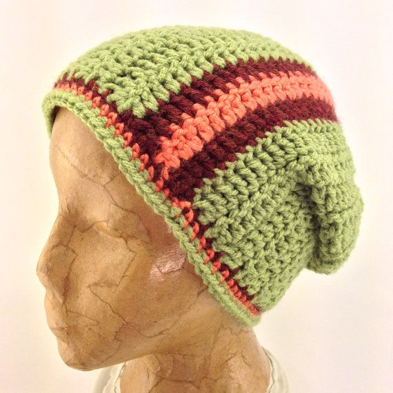 This hat was uniquely made because I crocheted this hat as a flat rectangular piece. Once I was done crocheting, I stitched together each