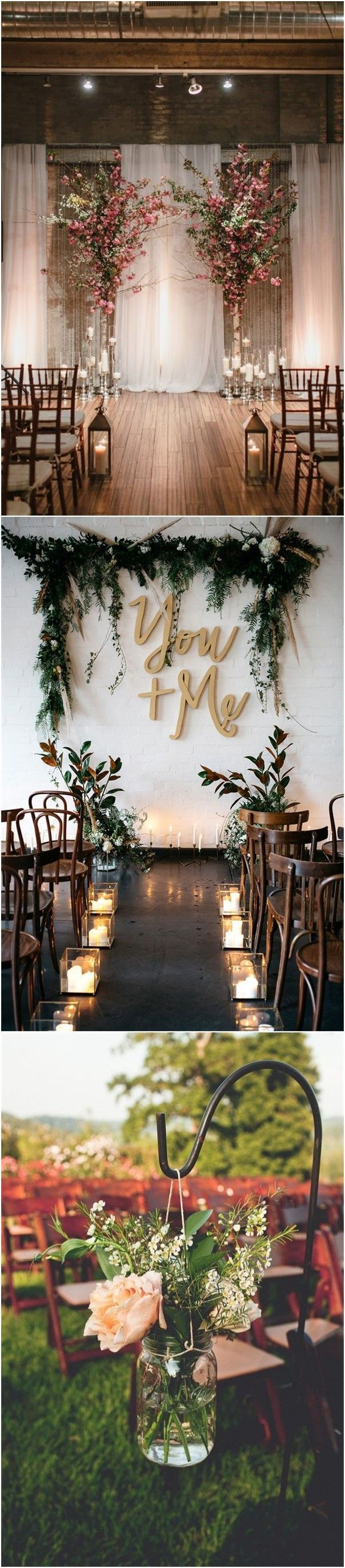 Wedding room decoration ideas 2018   Rustic Outdoor Wedding Ceremony Decorations Ideas in