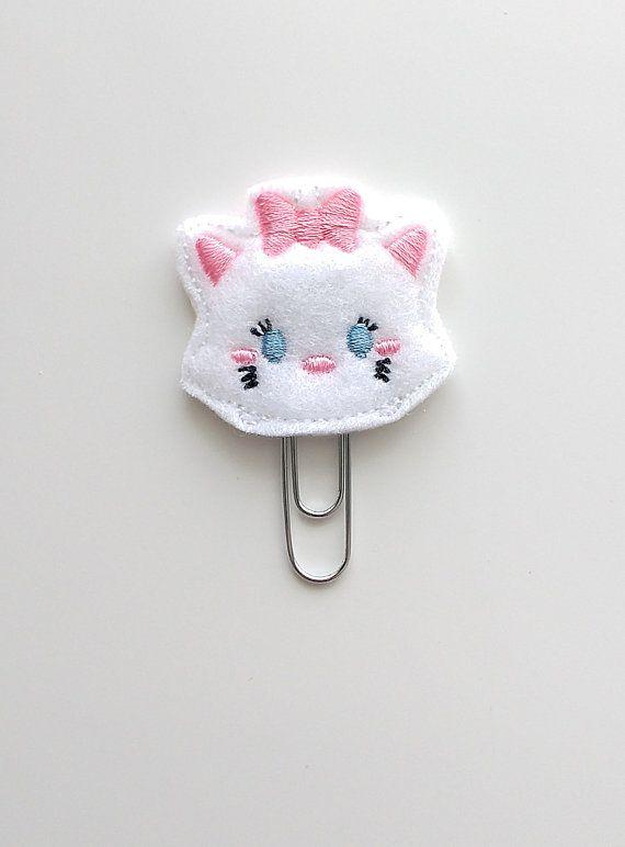 Tsum Tsum Marie Felt Paperclip | Bookmark | Clip | Planner Accessories | Feltie | Planner Clip | Paper Clip | Movie Felties | The Aristocats