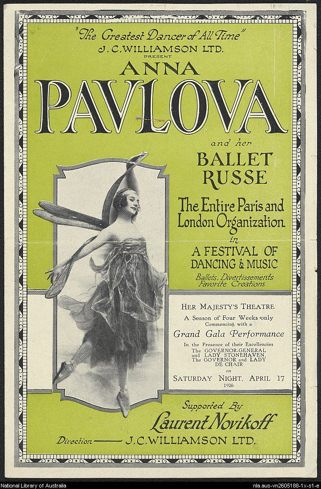 A program from a tour in Australia