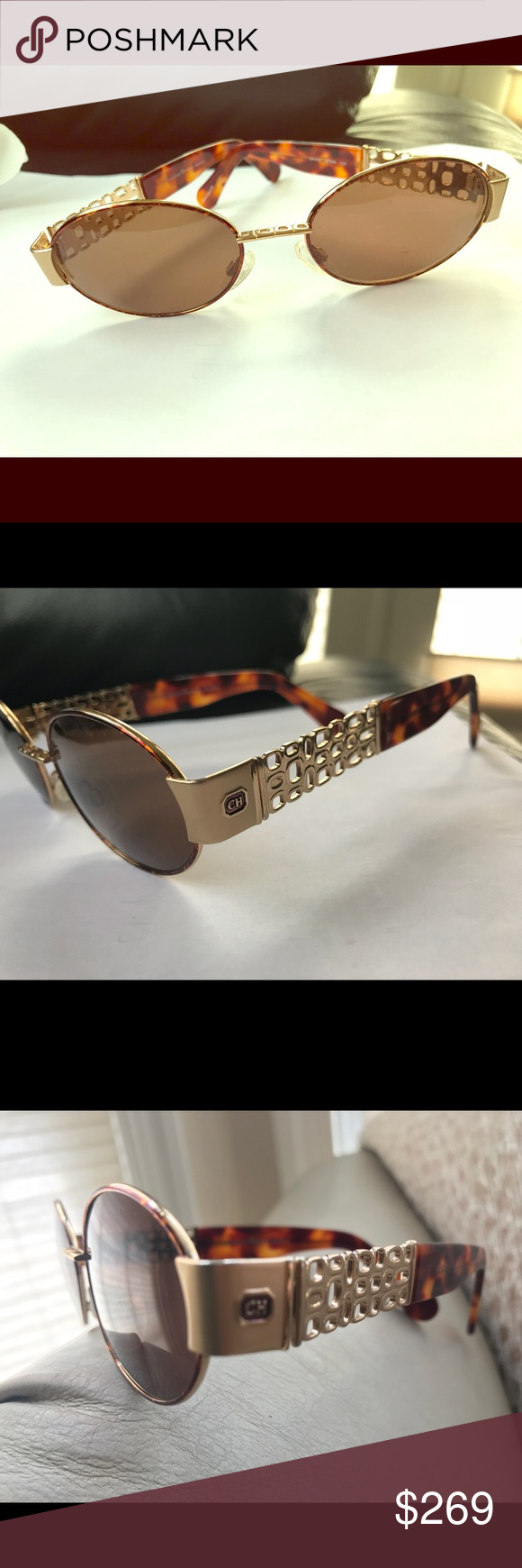 06e2cbab31ef Carolina Herrera sunglasses Rare hard to find! Authentic Carolina Herrera  Designer sunglasses. Ch315 Brown plastic lenses. Almost new. Sunglasses  only.