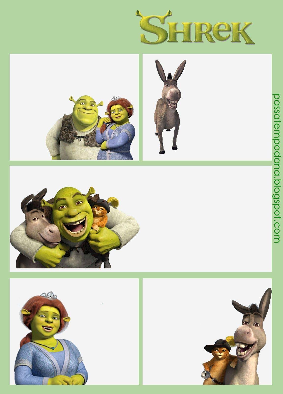 Passatempo da Ana: Convite: Gibi | Shrek Printables | Pinterest ...