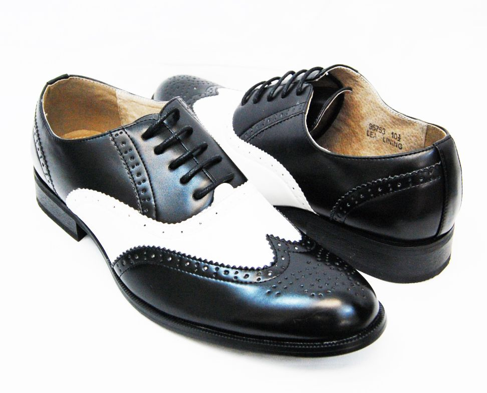 0dbf73bcf9722 Majestic Men's Shoes . Black and White Spectators . Oxford Style ...
