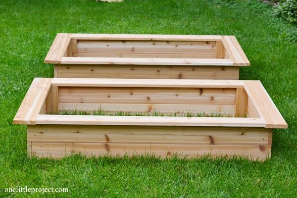 Attractive How To Make A Garden Box | Onelittleproject.com