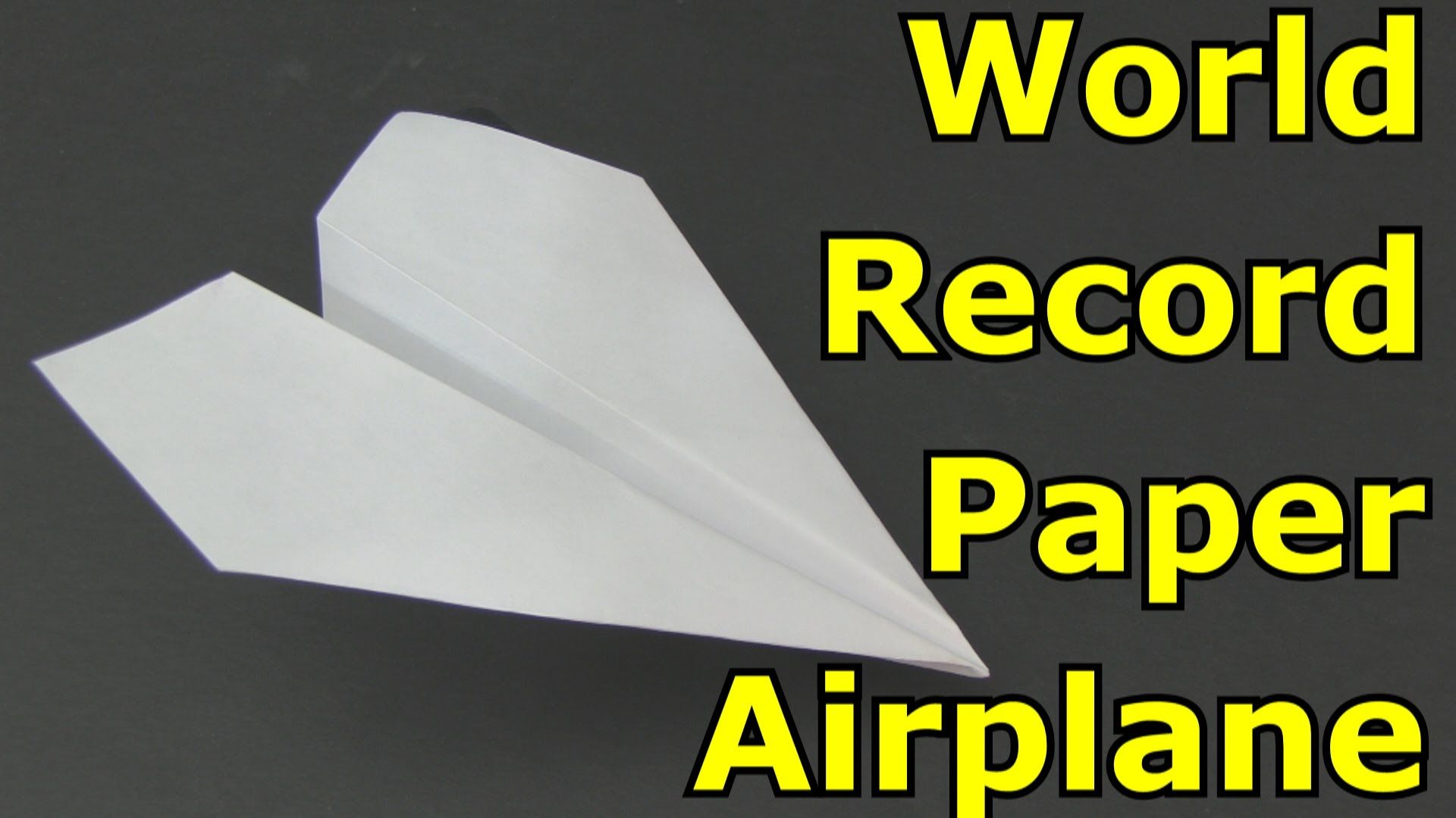 How To Make The World Record Paper Airplane For Distance Best Paper Airplane Design Origami Paper Plane Make A Paper Airplane