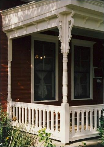 Victorian Porch, Victorian Houses, Victorian Decor, Front Porch Posts,  Front Porches, Porch Railings, Porch Makeover, Porch Ideas, Farm House