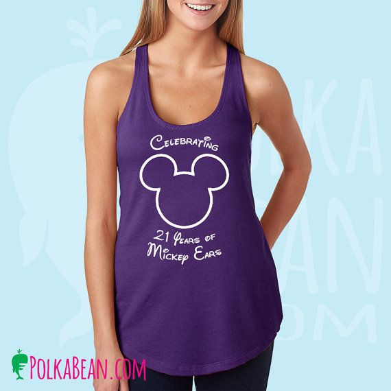 Mickey Head Tank Top/Mickey Birthday Shirt/Disney Trip