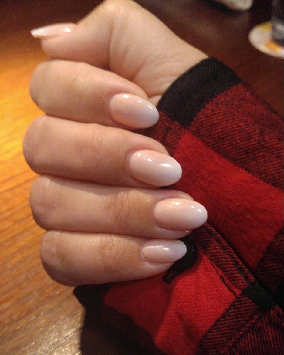 Oval shaped french ombre gel top coat | Girly | Pinterest | Gel top ...
