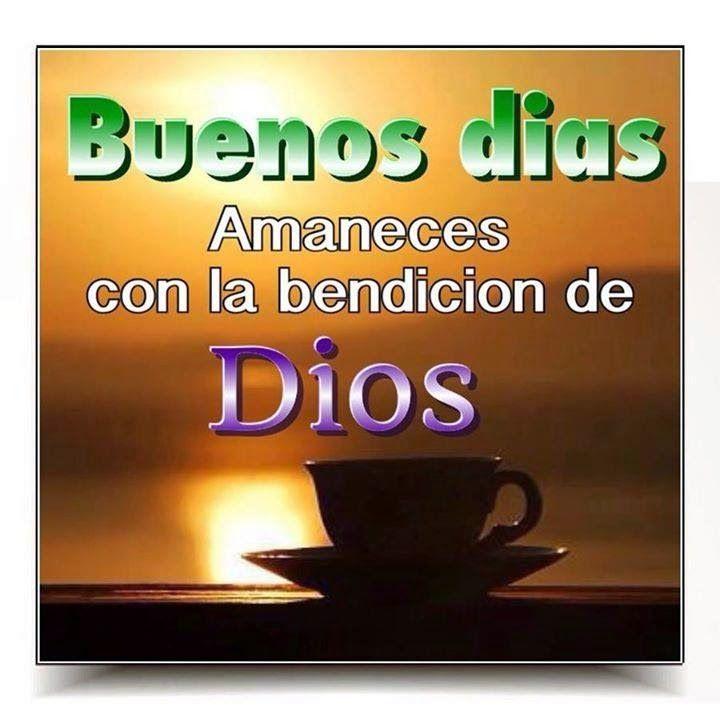 Amaneces con la bendición de Dios. Mis pensamientos