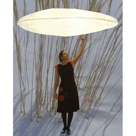 Nuage suspension éco design en papier japonais plafonnier écologique fabriqué à la main
