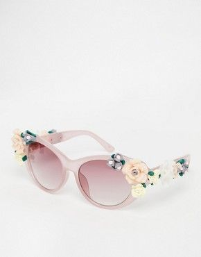 409217175fa Pin for Later  Shield the Sun in Style With These Statement Sunglasses  Jeepers Peepers Novelty Flower Cat Eye Sunglasses