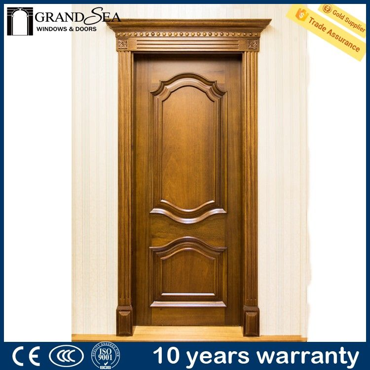 Economic Price Aluminum Flush Flat Teak Wood Main Door