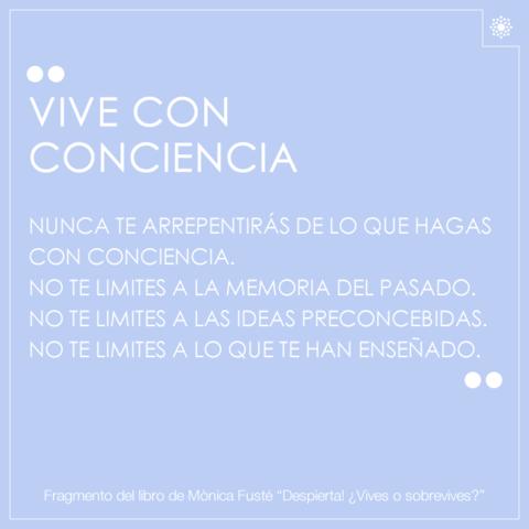 VIVE CON CONCIENCIA