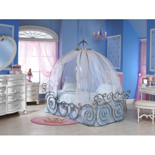 Disney Princess Carriage Bed with Sheer Fabric (frame sold separately) | HOM Furniture  sc 1 st  Pinterest & Disney Princess Carriage Bed with Sheer Fabric (frame sold ...