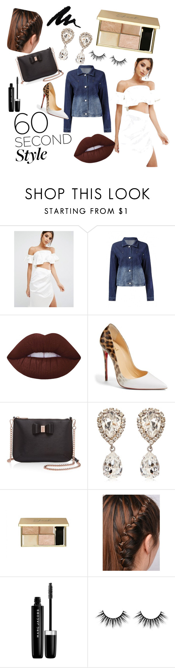 """yassss"" by aricrowder on Polyvore featuring Kendall + Kylie, Lime Crime, Christian Louboutin, Ted Baker, Dolce&Gabbana, Marc Jacobs, ombre and 60secondstyle"