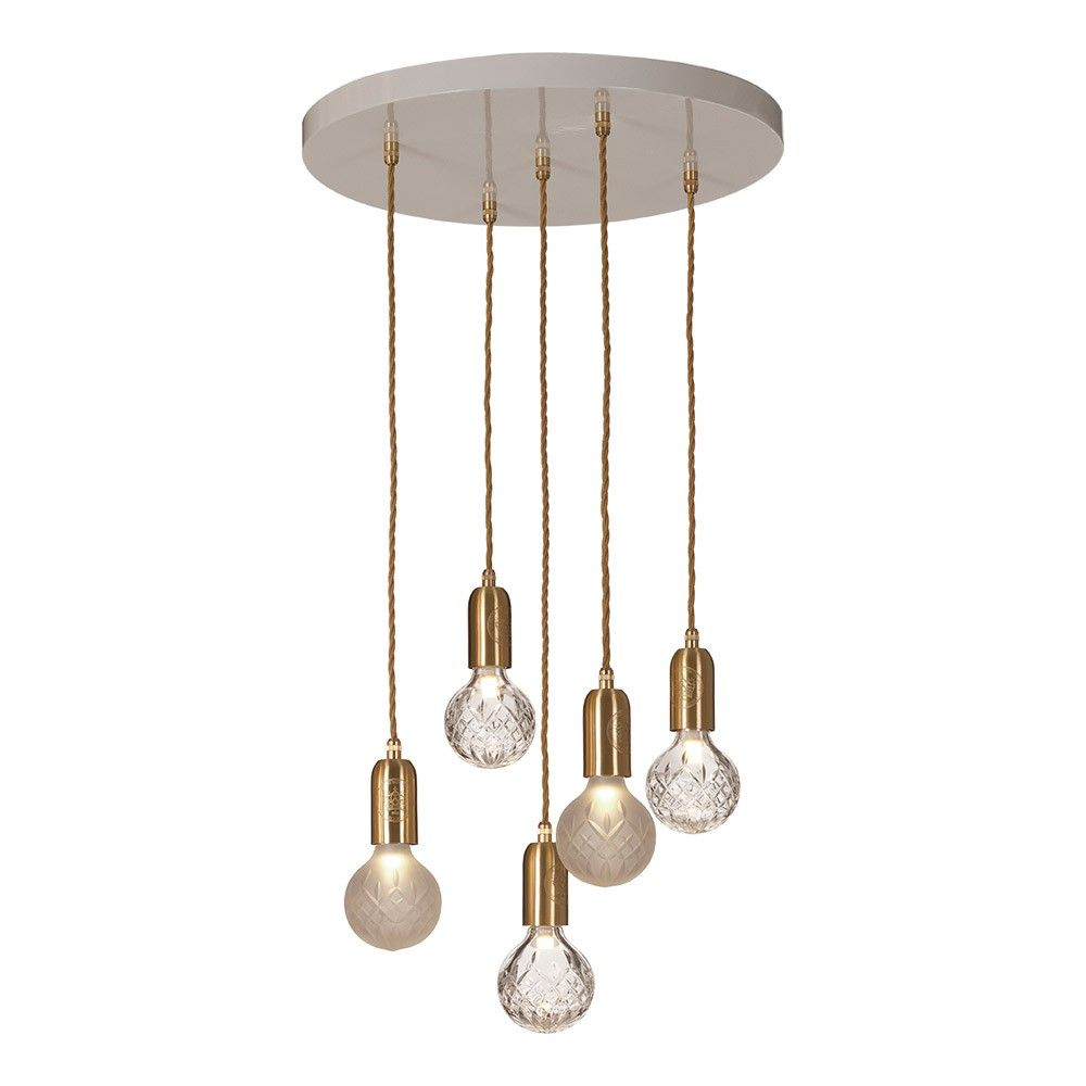 Lee Broom Clear Frosted Crystal Bulb Chandelier 3 Clear 2 Frosted Bulbs Lee Broom Broom Eclectic Chandeliers