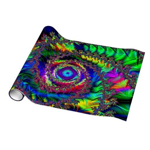 Tie dye fractal wrapping paper